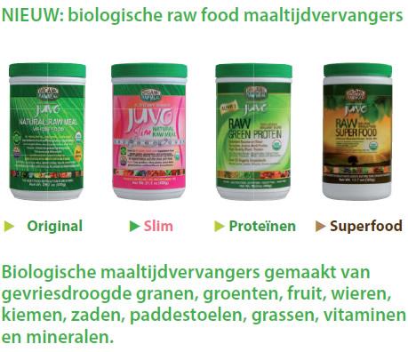 juvo biologische rawfood maaltijdvervangers